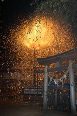 清内路の花火